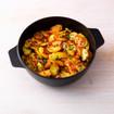 Bratkartoffeln mit Wurst und Zucchini