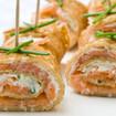 Crêpes mit Lachs und Spargel