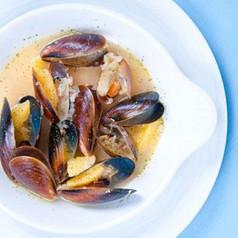 Curry-Miesmuscheln Suppe
