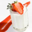Dickmilchcreme mit Erdbeerpüree