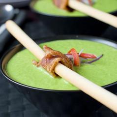 Erbsen-Chili Suppe