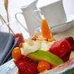 Fruchtsalat mit Weinschaum