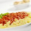 Fusilli-Nudeln mit Fleischsauce