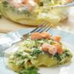 Kartoffel-Spinat-Gratin mit Lachs
