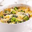 Kartoffelgratin mit Broccoli und Champignons