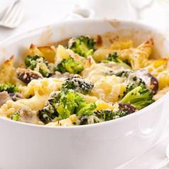 kartoffelgratin mit brokkoli und champignons hauptgerichte kochgourmet. Black Bedroom Furniture Sets. Home Design Ideas
