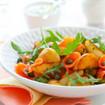Kartoffelsalat mit Rucola und Speck