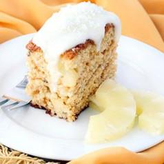 Kokosnuss-Ananas Kuchen