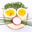Kräutersandwich mit Ei