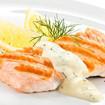 Lachs mit Sauce Hollandaise
