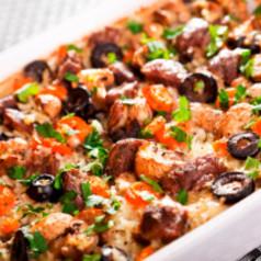 M hren auflauf mit hackfleisch hauptgerichte rezepte for Kochen mit hackfleisch