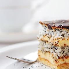 Kuchen mit mohn und kokos