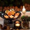 Orangen-Vanille-Sterne mit Rumglasur