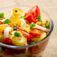 Scampi-Kartoffelsalat