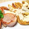 Schweinefilet mit Kartoffelgratin