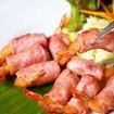 Shrimps im Speckmantel