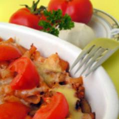 Thunfisch-Tomaten-Gratin