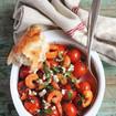 Tomaten-Shrimpssalat mit Ziegenkäse