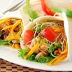 Tortilla mit Hühnchen und Gemüse