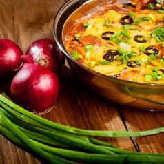 Überbackene Kartoffeln mit Oliven